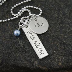 Sole Sister Necklace - Runner Jewelry - Customize With Your Race