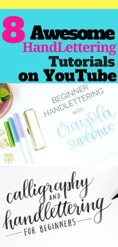Learn the basics of handlettering with these easy YouTube Tutorials for beginners!