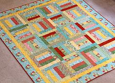 Lap Quilt in Flora by Lauren and Jessi Jung for Moda
