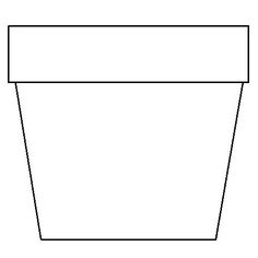 Flower Pot Coloring Page: This simple template can be used for many different craft ideas.