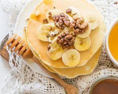 Pancakes minceur miel, banane et noix : http://www.fourchette-et-bikini.fr/recettes/recettes-minceur/haricots-verts-croqkilos-sautes-aux-amandes-anti-fringale.html