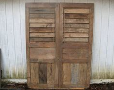 Shutter Doors made from reclaimed woods (Handmade) 15% OFF