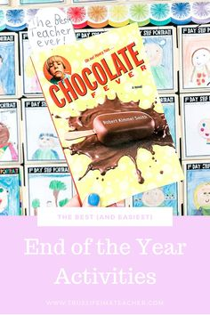 Chocolate Fever is the perfect chapter book read aloud for 2nd and 3rd graders (especially at the end of the year). Fifth Grade, Chapter Books, Best Teacher, Read Aloud, Classroom, Activities, Chocolate, School, Life