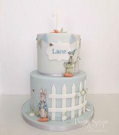 Peter Rabbit Beatrix Potter first birthday cake