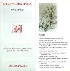 Pintura y dibujo de Ángel Pintado Sevilla en la Galería de Arte Pilares Cuenca Abril 1994 #GaleriaPilares #Cuenca #AngelPintadoSevilla