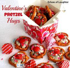 Valentine's Pretzel Hugs.