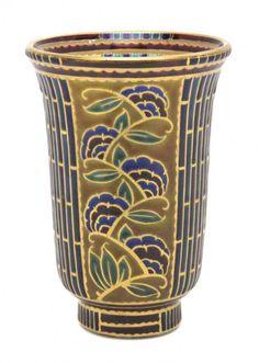 A French Enameled Glass Vase, Auguste Heiligenste