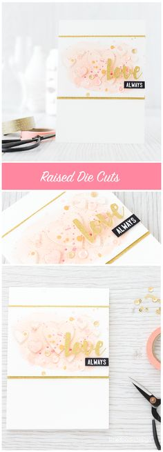 All that a watercolored card needs is a simple touch such as raised die cuts. Find out more by clicking on the following link: http://limedoodledesign.com/2016/01/raised-die-cuts/