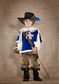Costume enfant Aramis mousquetaire face