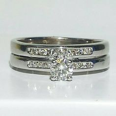 Up for offer this set of diamond rings is soldered together already. It would an excellent upgrade for an anniversary. Ring Specifics: 5.41G