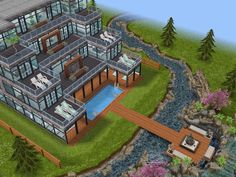House 97 luxury resort full view #sims #simsfreeplay #simshousedesign
