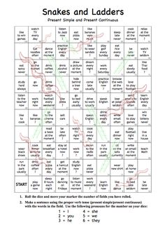Kids of all ages have enjoyed playing Snakes and Ladders for generations and now… English Grammar Games, Grammar Lessons, English Vocabulary, English Fun, English Lessons, Learn English, Grammar Activities, English Activities, Vocabulary Games
