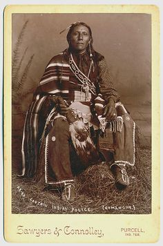 COMANCHE Indian Police Sawyers Connolley Purcell Indian Territory 1880