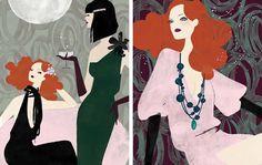 Fashion Illustration By Anja Kroencke. theartinspiration.com