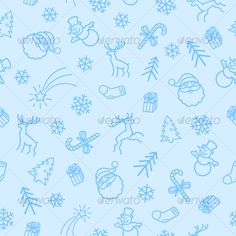 Seamless Christmas Ligth  Pattern Vector Decorative. Template Vector EPS. Download here: http://graphicriver.net/item/seamless-christmas-ligth-pattern/73586?s_rank=18&ref=yinkira
