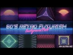 80s Retro Futurism Background Pack