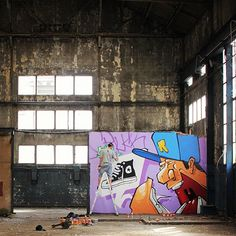 New mural going up in France from artist Rooble. #converse #justaddcolor - @converse- #webstagram
