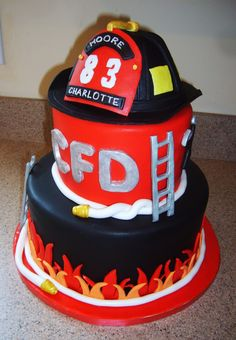 Fire chief birthday cake | Shared by LION