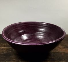 Medium Ceramic Purple Serving Bowl Wheel Thrown Clay Pottery Ready to Ship by…
