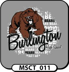 """OMG I love this bear!!!   This could say, """"you're in BEAR country!""""    Design Custom School Spiritwear T-Shirts, Hoodies & Team Apparel by Spiritwear.com"""