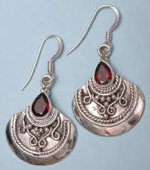Indian silver earings