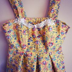 Size 12 hand crafted pleated floral dress with by missrachelholly, £55.00