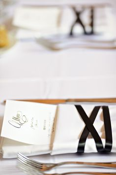 ballet ribbon place setting