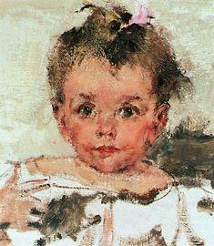 Nicolai Fechin - Russian and American artist. Paintings I Love, Your Paintings, Indian Paintings, Nicolai Fechin, Russian American, Russian Baby, Cute Girl Drawing, Impressionist Artists, Portrait Art