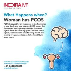 PCOS means for Polycystic Ovarian Syndrome. Browse for pcos Treatment and its Symptoms and Causes also get info on Problems and Solutions. Causes Of Infertility, Female Infertility, Pcos Symptoms, Ivf Center, Baby Center, Centre, Human Body Facts, Pituitary Gland
