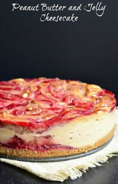 Peanut Butter and Jelly Cheesecake from willcookforsmiles.com