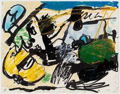eddie martinez Untitled, 2016 Ink, oil paint, marker, spray paint and enamel on paper x cm. Eddie Martinez, Ink, Marker, Artist, Enamel, Painting, Fictional Characters, Vitreous Enamel, Markers