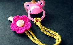 [Free Pattern] This Super-Cute Binky Clip Is The Fastest Little Project Ever! - Knit And Crochet Daily ~ FREE - CROCHET