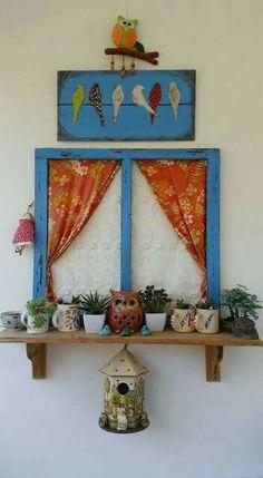 Craft diy project diy handmade wood painting balcony cocokelley via oreeko Diy Craft Projects, Diy Home Crafts, Wood Crafts, Diy Home Decor, Wood Projects, Handmade Crafts, Diy Y Manualidades, Indian Home Decor, Painting On Wood
