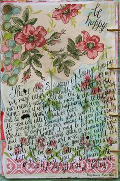 Journal page by Pam Garrison. #Art #journal #lettering