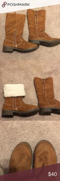 George Boots NWOT Size 11 $40 George Brown Suede Boots with warm lining NWOT $40 George Shoes Winter & Rain Boots