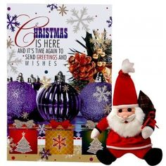Send Christmas Card & Santa Toy Online with same day delivery in Ahmedabad from SendGifts Ahmedabad. Order Christmas Card & Santa Toy online and express your best feeling to your Special Person. Christmas Cards, Christmas Ornaments, Toys Online, Santa Gifts, Special Person, Ahmedabad, Holiday Decor, Christmas E Cards, Xmas Cards