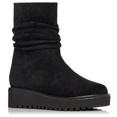 Botine din piele intoarsa | EXBO21913 | NISSA Wedges, Boots, Fashion, Crotch Boots, Moda, La Mode, Heeled Boots, Wedge, Fasion