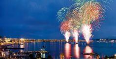 Festival d'art Pyrotechnique. Feux d'artifices en baie de Cannes durant tout l'été - © Ville de Cannes