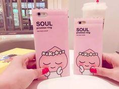 Cute Soul Candy Case Fashion Soft TPU IMD Phone Cases For Apple iPhone 6/6s/6sPlus/4.7/5.5/7/7Plus Korean Cover Capa Coque