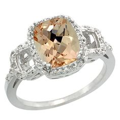 10K White Gold Natural Diamond Morgan…