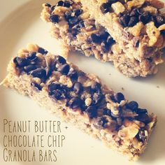 Peanut Butter Chocolate Chip Granola Bars | Healthy. Because I Can!: Bye Bye Summer