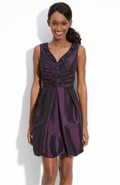 Donna Ricco Beaded Sleeveless Taffeta Dress available at #Nordstrom