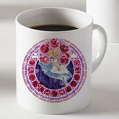 Alice in Wonderland Princess Stained Glass for Mug Cup Two Sides 11 Oz Ceramics @ niftywarehouse.com #NiftyWarehouse #AliceInWonderland #Alice #Wonderland #Gifts