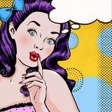 Pop Art Illustration Of Woman With The Speech Bubble.Pop Art Girl.Birthday Greeting Card. - Download From Over 44 Million High Quality Stock Photos, Images, Vectors. Sign up for FREE today. Image: 50320228