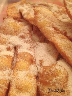 Coscorões/Portuguese fried dough – Decor and Dine Portuguese Sweet Bread, Portuguese Desserts, Portuguese Recipes, Portuguese Food, Donut Recipes, Snack Recipes, Cooking Recipes, Cinnamon Recipes, Cake Recipes