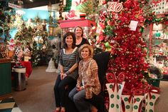 At Miss Cayce's Christmas store with Kathy and Becky with Nicole from My Christmas.