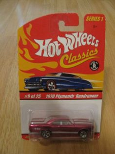 Hot Wheels Classics Series 1 - 1970 Plymouth Roadrunner of 25 by Mattel Custom Hot Wheels, Hot Wheels Cars, Toy Model Cars, 1968 Mustang, Panel Truck, Matchbox Cars, Car Humor, Cool Toys, Diecast