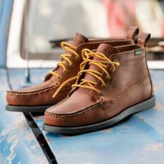 An Eastland camp moc classic in a five-eye chukka for weekends at the lake or everyday rambling