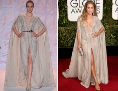 Jennifer Lopez In Zuhair Murad Couture – 2015 Golden Globe Awards