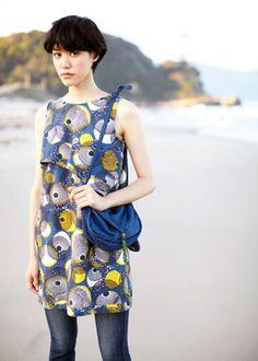 アフリカンプリント・レイヤードドレス